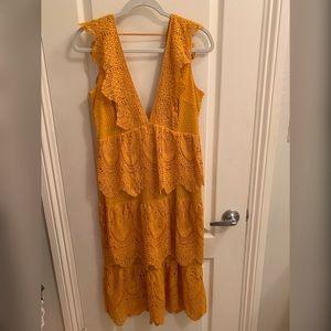 Topshop mustard yellow dress